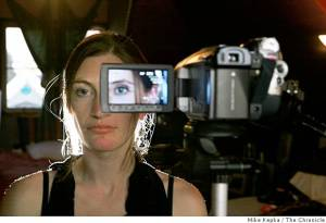 Tanya Vlach, a San Francisco artist who lost her left eye in an accident, wants to replace it with a video system. (Mike Kepka / The Chronicle)
